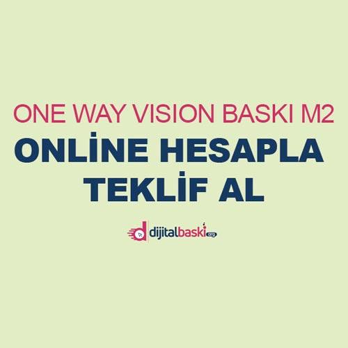One way vision baskı fiyatları